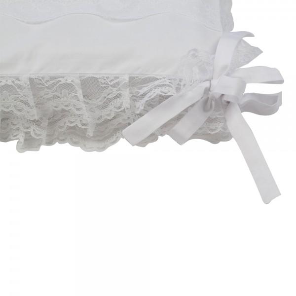 tour de lit bébé blanc dentelle Crib Bumper Blanche   Saphire Bébé Couture tour de lit bébé blanc dentelle