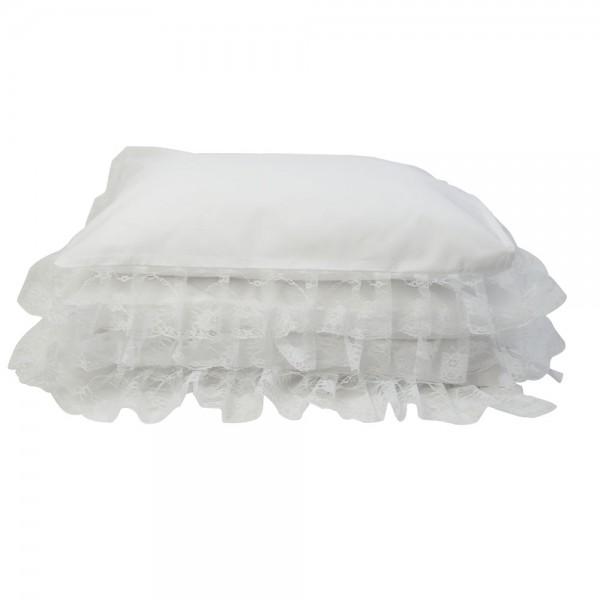 Parure de lit de blanche saphire b b couture - Parure de lit blanche ...