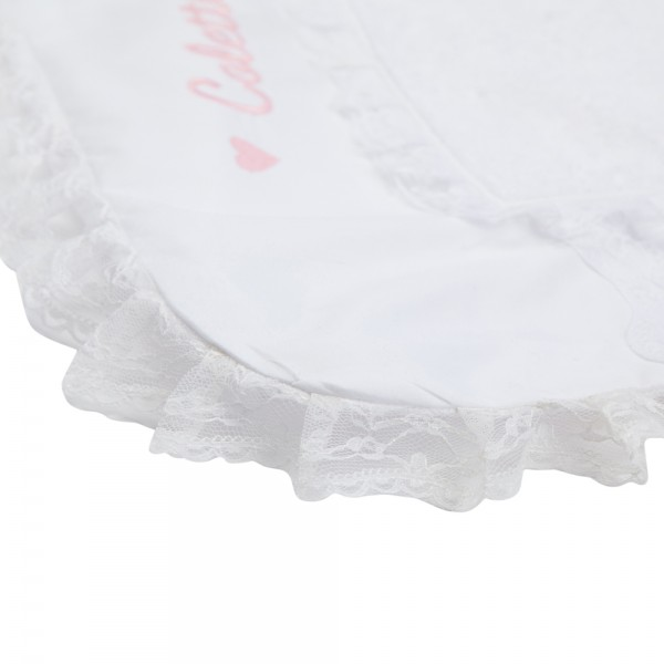 Changing Pad Cover Blanche Saphire Bebe Couture